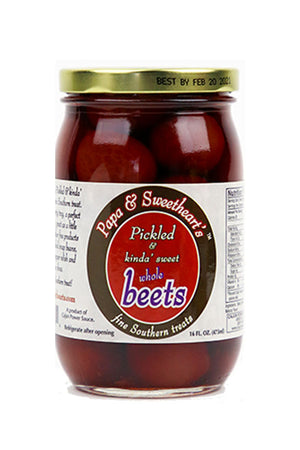 Papa & Sweetheart's Pickled & Kinda' Sweet Whole Beets