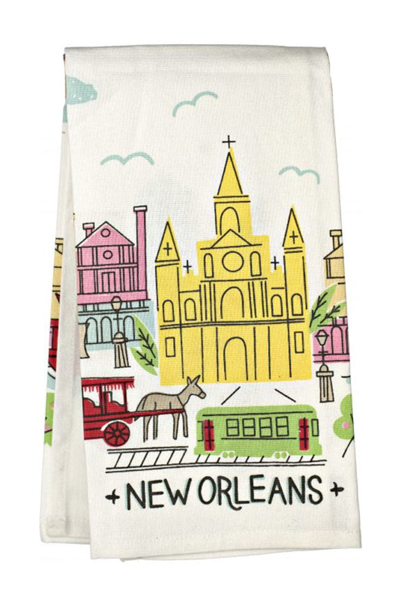 Colorful French Quarter Tea Towel