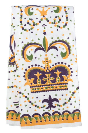 Mardi Gras Crown Towel