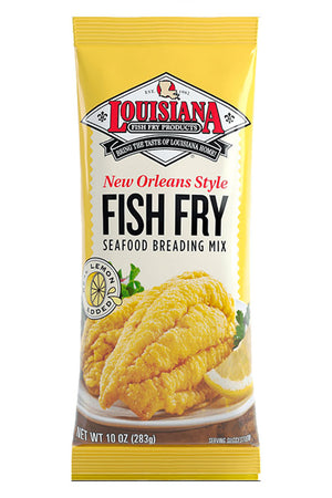 Louisiana Fish Fry: New Orleans Style Seafood Breading Mix With Lemon