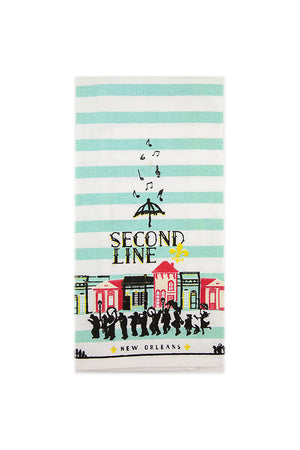 Second Line Tea Towel