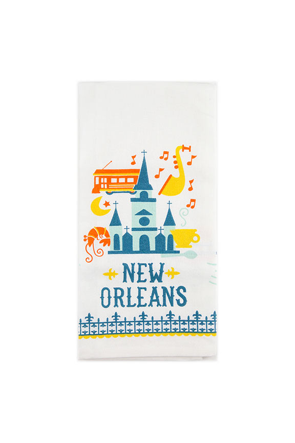 New Orleans St. Louis Cathedral Tea Towel