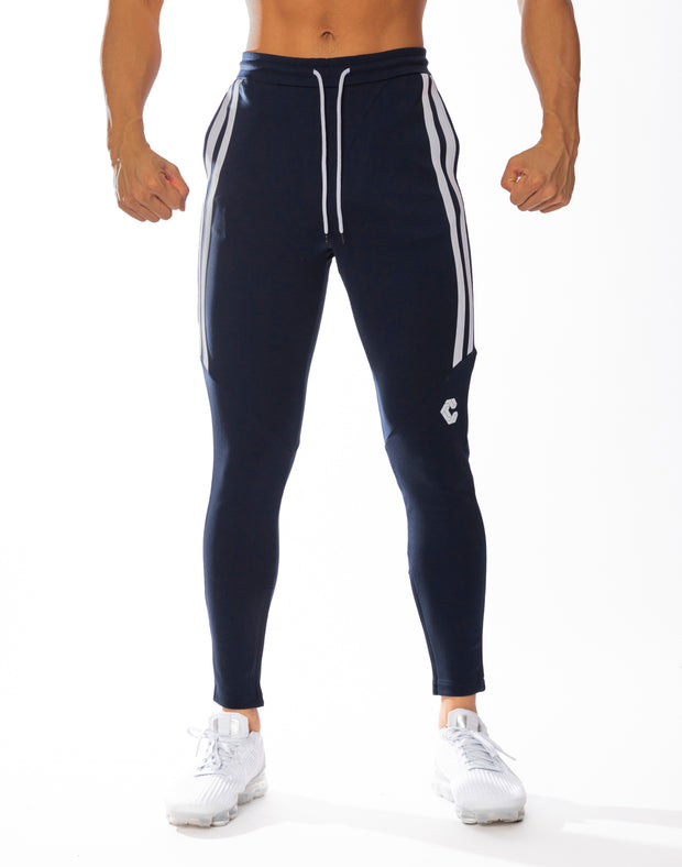 CRONOS HALF 2STRIPE CALF LOG PANTS NAVY