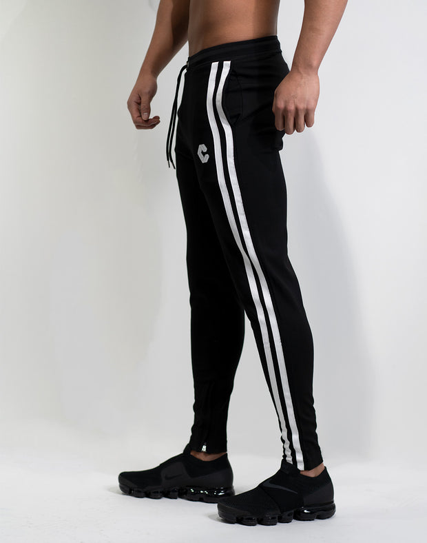 Mode Side Stripe Pants 05 Black