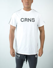 CRNS Side Tape T-Shirt White