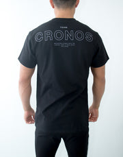 CRONOS Back Logo T-Shirt BLACK