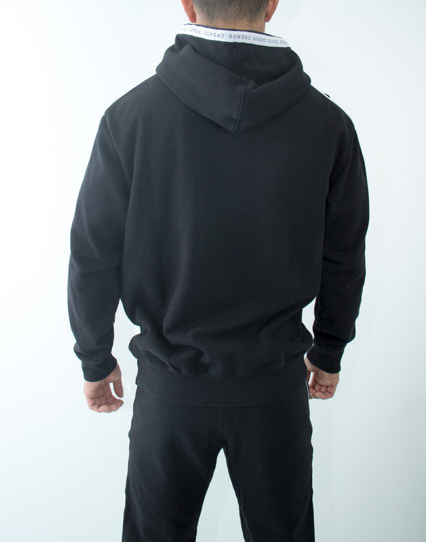 CRNS Log Tape Pull Over Parka BLACK