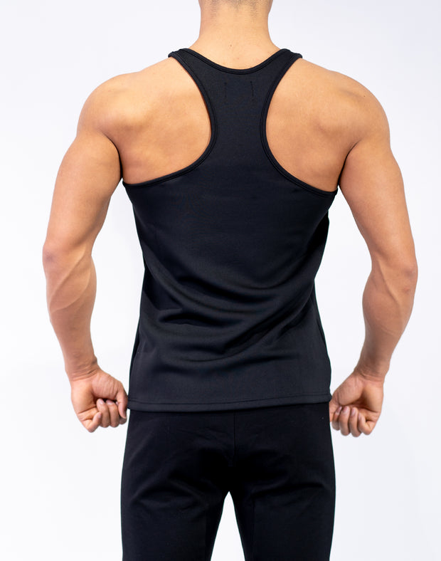 Logo Stretch Fit Tank Top Black