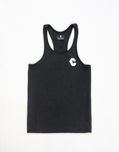 Breast Logo Stretch Fit Tank Top Black