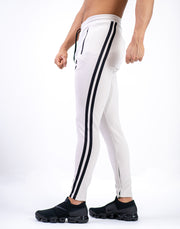 MODE CURVE STRIPE PANTS BEIGE