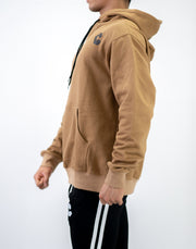 CRONOS ARM LOGO PARKA BROWN