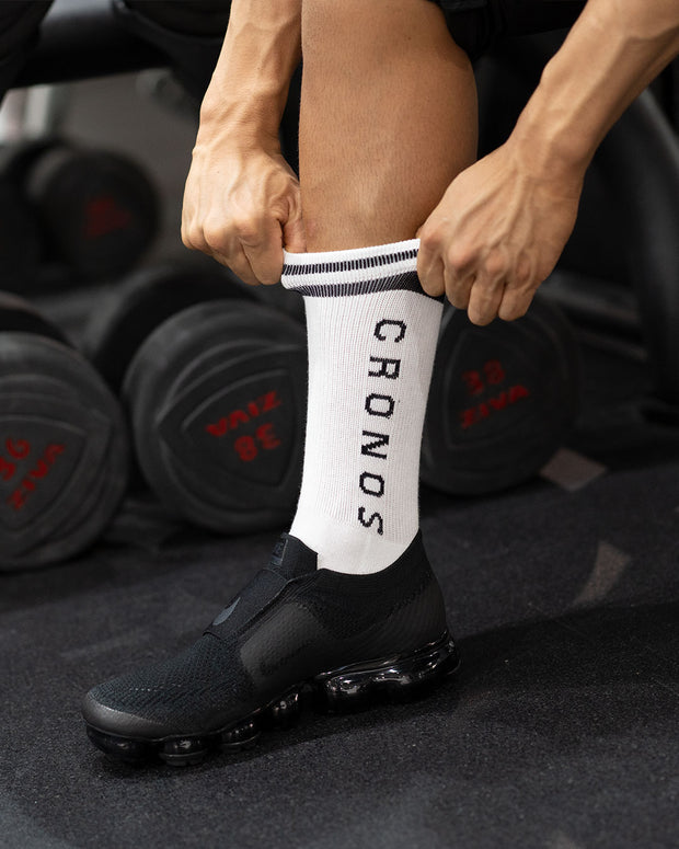 CRONOS TWO BORDER SOCKS WHITE