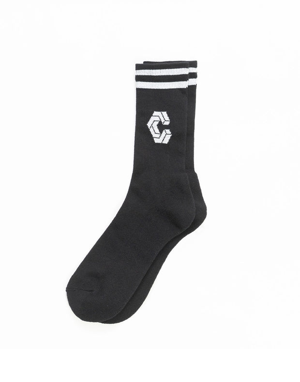 CRONOS BIG LOGO SOCKS BLACK
