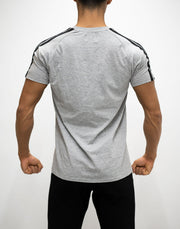 CRONOS SHOULDER STRIPE T-SHIRT GRAY