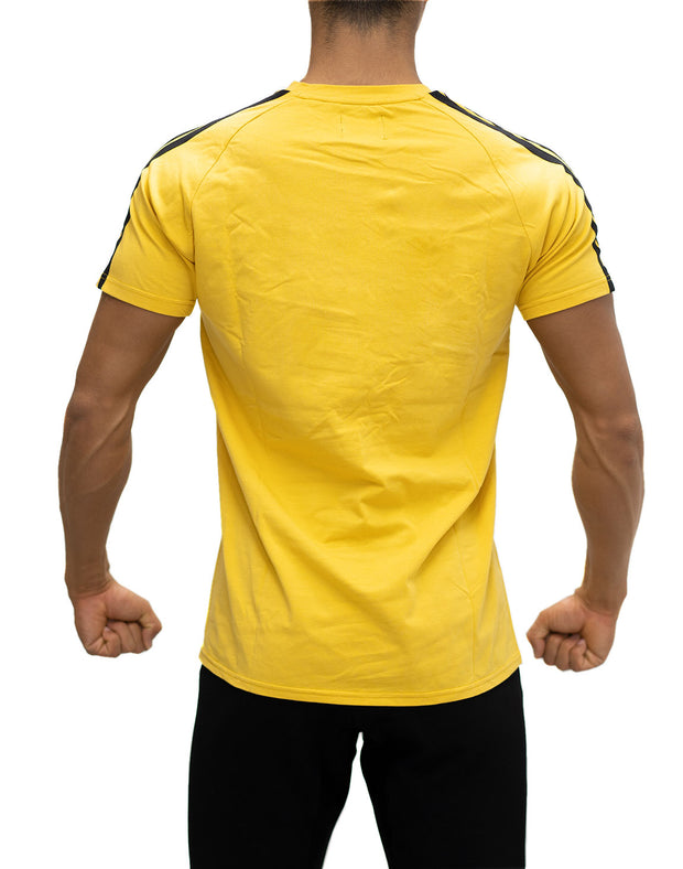 CRONOS SHOULDER STRIPE T-SHIRT YELLOW