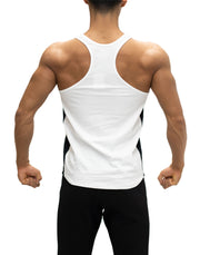 CRONOS SIDE COLOR TANKTOP WHITE&BLACK