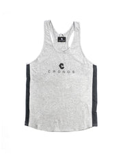 CRONOS SIDE COLOR TANKTOP GRAY&BLACK