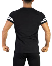 CRONOS SHOULDER LINE T-SHIRTS BLACK