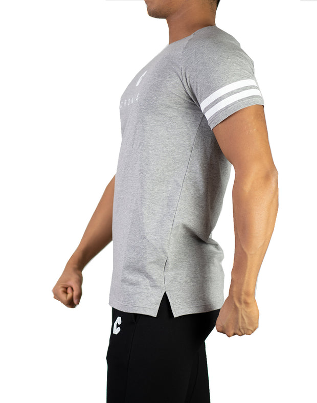 CRONOS SHOULDER LINE T-SHIRTS GRAY