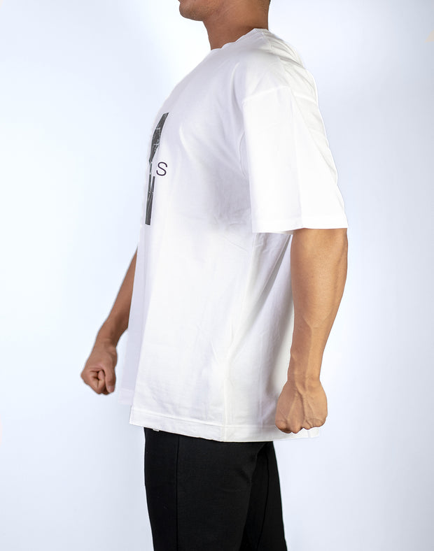 BIG LOGO Over Size T-Shirt WHITE
