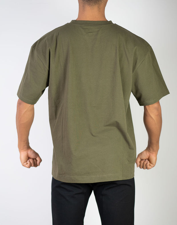 BIG LOGO Over Size T-Shirt KHAKI