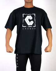 CRONOS Square Logo Big Size T-Shirt BLACK