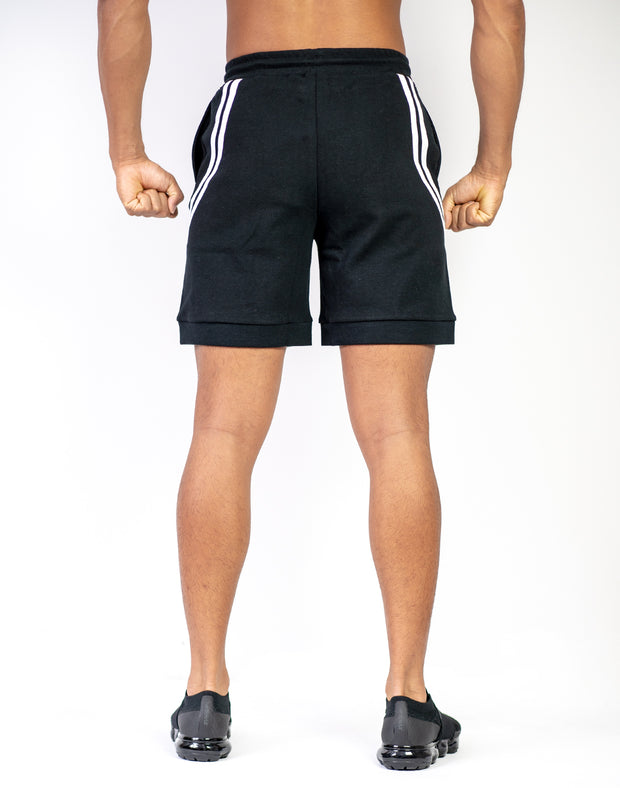 MODE CURVE STRIPE SHORTS BLACK