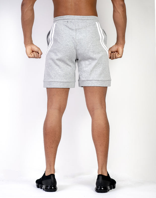 MODE CURVE STRIPE SHORTS GRAY