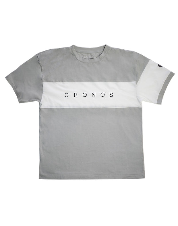 CRONOS FRONT THICK LINE T-SHIRT GRAY