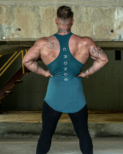 CRONOS BACK LOG TANK TOP TURQUOISE