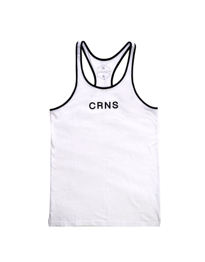 CRNS PIPING TANK TOP WHITE