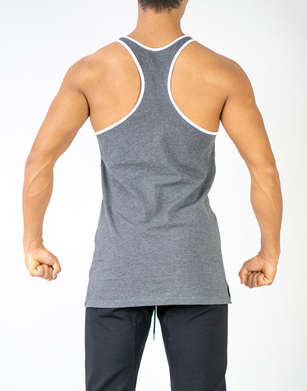 CRNS PIPING TANK TOP GRAY