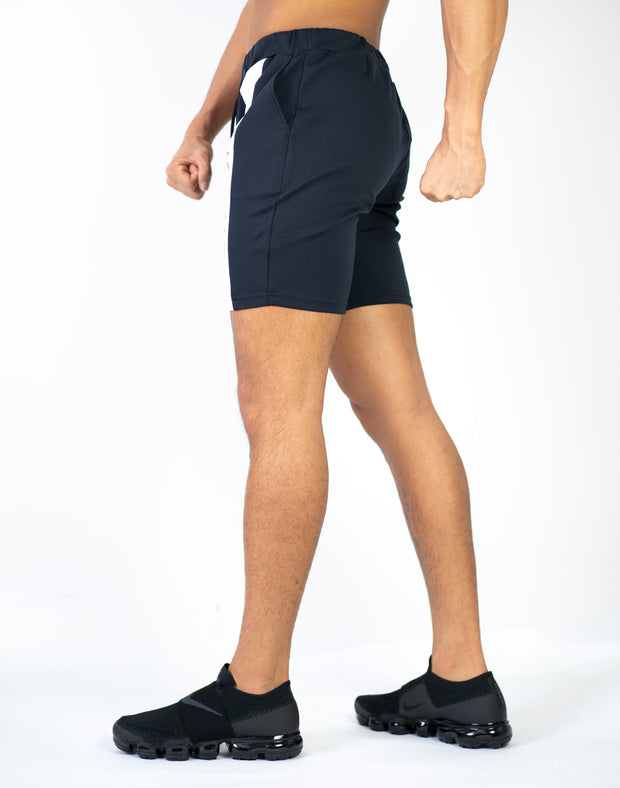 CRNS VERTICAL LINE SHORTS BLACK