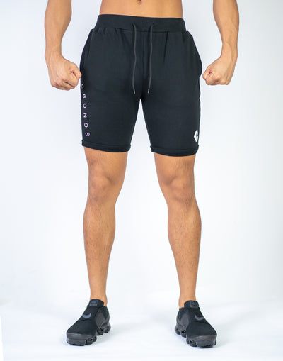CRONOS PILE FABRIC SHORTS BLACK
