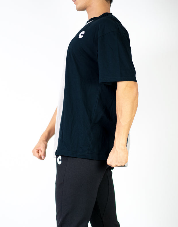 CRONOS CENTER LINE  T-SHIRT BLACK