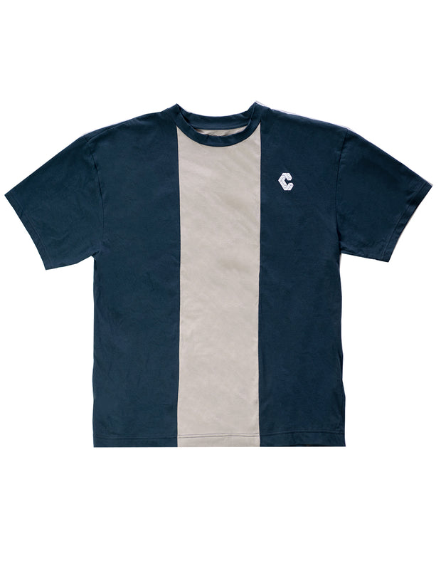 CRONOS CENTER LINE  T-SHIRT NAVY