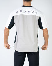 CRONOS BACK LOGO OVER SIZE T-SHIRT GRAY