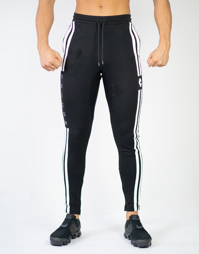 CRONOS NEW MODE 2STRIPE PANTS BLACK