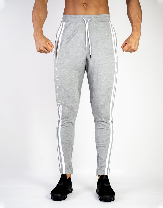 CRONOS NEW MODE 2STRIPE PANTS GRAY