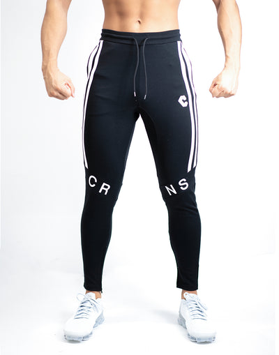 CRNS KNEE LOGO PANTS 【BLACK】