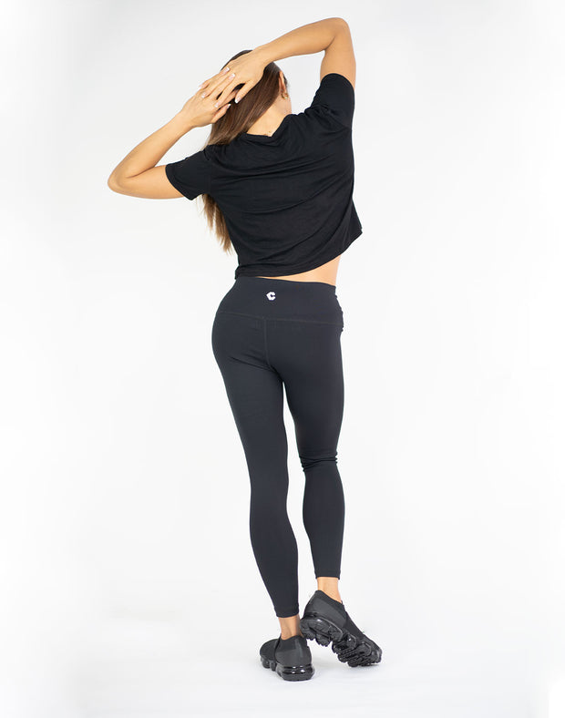 CRONOS CROP T-SHIRTS 01 BLACK