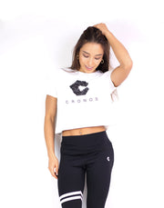 CRONOS CROP T-SHIRTS 01 WHITE