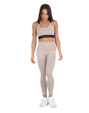 CRONOS MODE 2STRIPE LEGGINS BEIGE