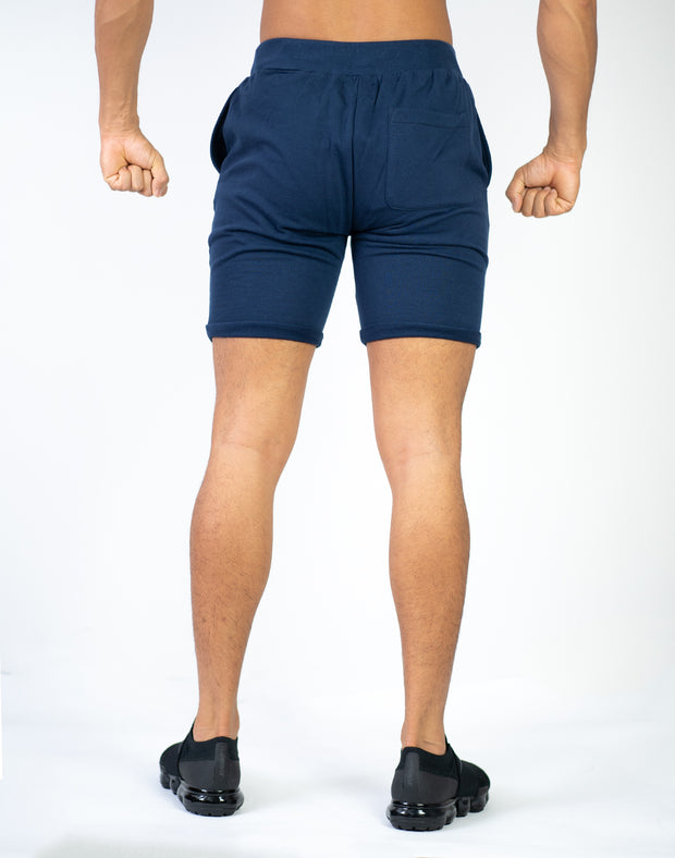 CRONOS PILE FABRIC SHORTS NAVY