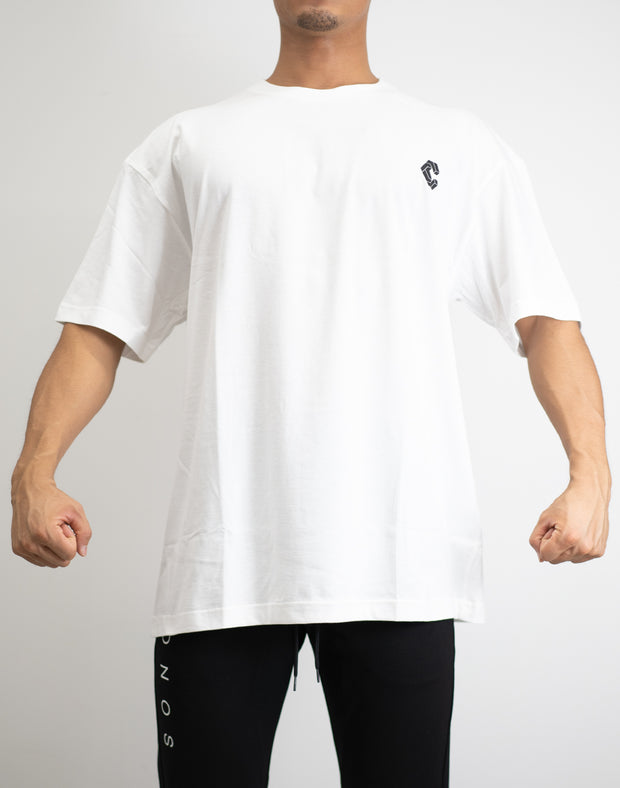 CRNS BACK BIG LOGO OVER SIZE T-SHIRTS WHITE