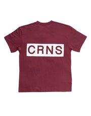 CRNS BACK BIG LOGO OVER SIZE T-SHIRTS M.RED