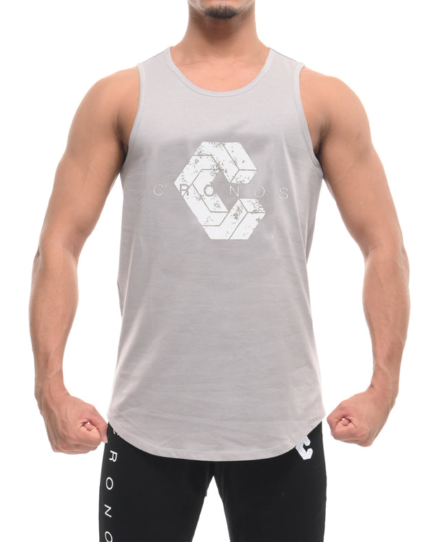 CRONOS NEW LOGO TANK TOP L.GRAY