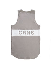 CRNS BACK BIG LOGO TANK TOP A.GRAY