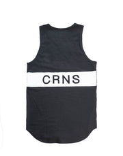 CRNS BACK BIG LOGO TANK TOP BLACK