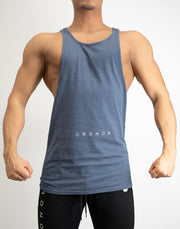 CRONOS WIDE CUFFS TANK TOP LIGHT GRAY